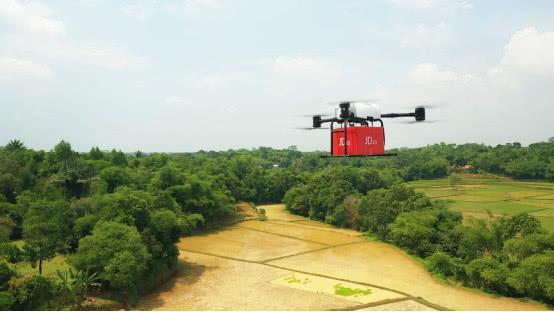京东宣布无人机印尼首飞:中国物流无人机实现首次海外飞行