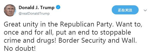 """特朗普急得说RAP:""""建起一堵墙,犯罪就会凉"""""""