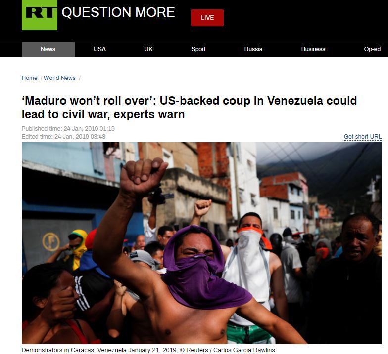 美反战联盟成员批美挺委内瑞拉反对派 还道出美国为何这样做