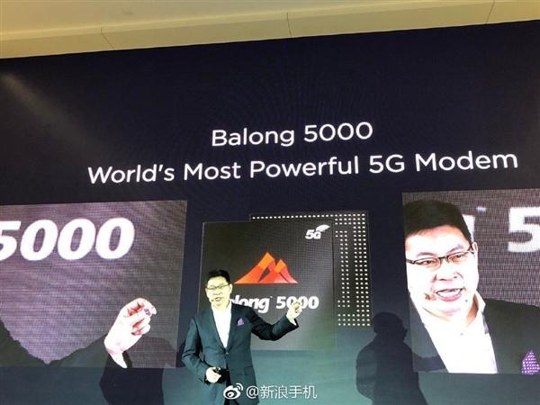 华为发布5G多模基带巴龙5000:毫米波可达6.5Gbps