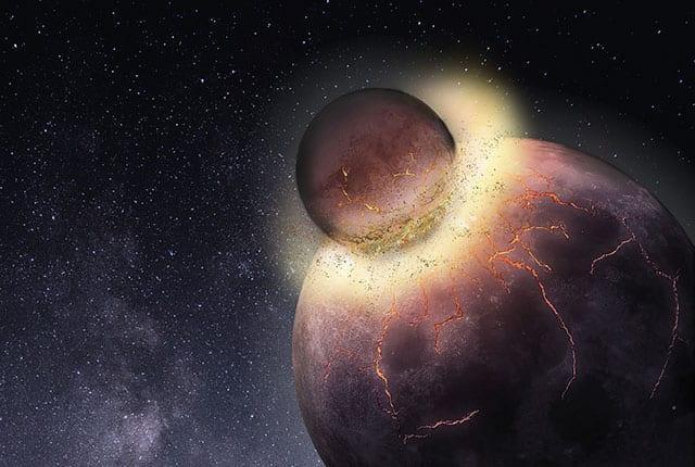 研究称形成月球的行星碰撞使地球上生命成为可能