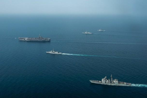 剑指伊朗?美英法澳波斯湾军演 称要威慑潜在敌人