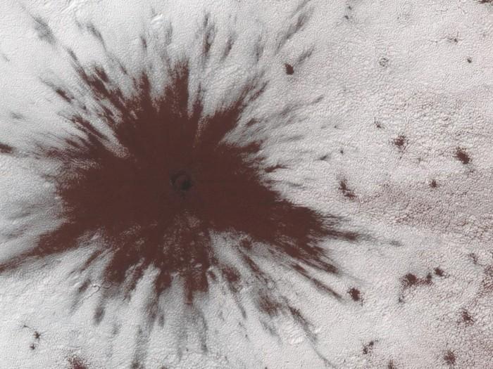 """NASA在火星上发现新的""""爆炸图案"""""""