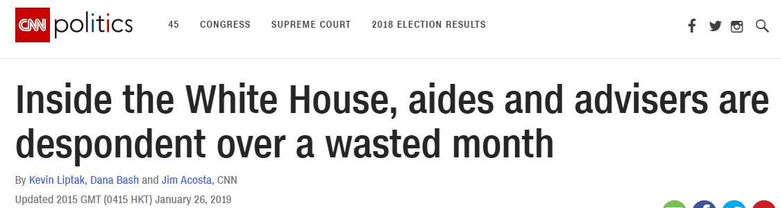 美政府暂结束停摆 ,特朗普身边人沮丧:耻辱,我想念胜利