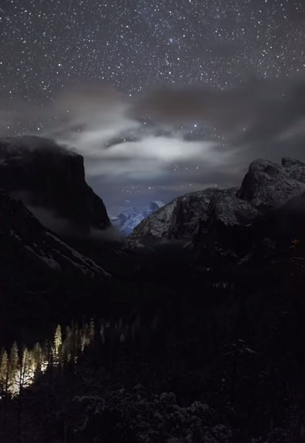 壮丽!延时摄影记录美国国家公园暴风雨后迷人夜景