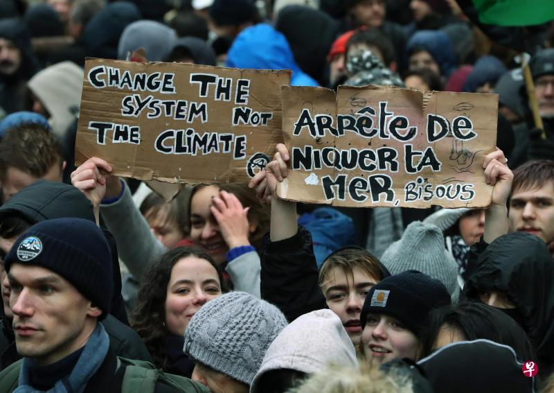 7万欧洲民众在布鲁塞尔游行 呼吁关注气候变化