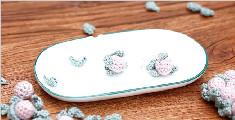 纯手工制作小野莓耳环