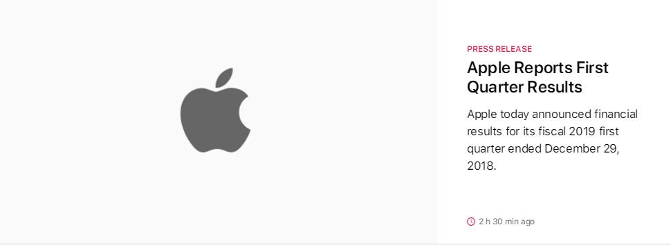 苹果发布最新财报:营收下滑、手表销量亮眼