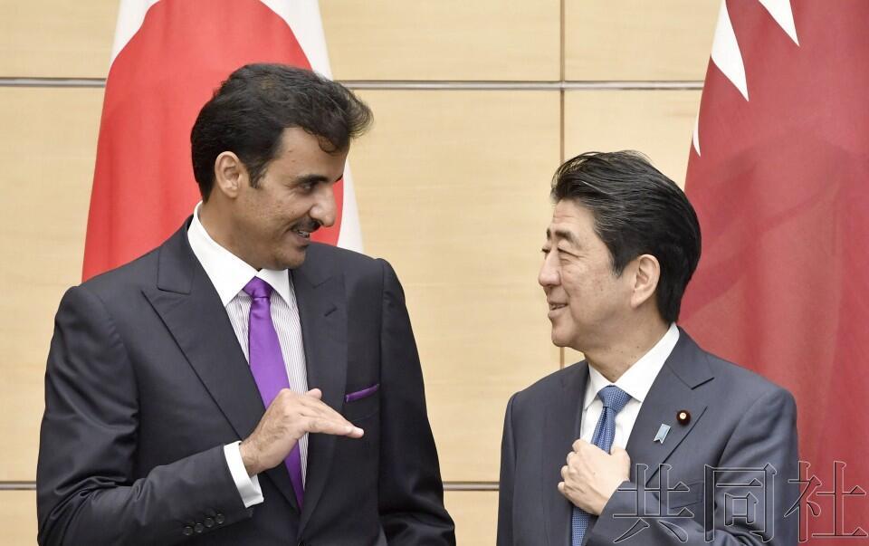 安倍会晤卡塔尔元首塔米姆,日卡将设置战略对话机制