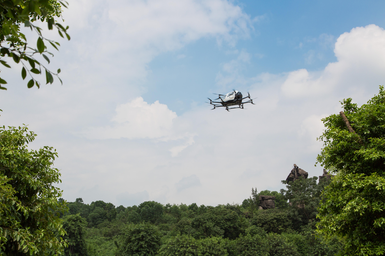 亿航成中国首家载人无人机试点单位