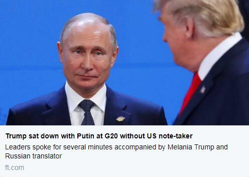 英媒又盯着特朗普:他曾私会普京,且无美方人员在场