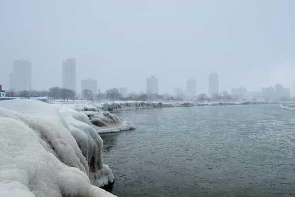 """""""致命低温""""来袭 芝加哥最低可达零下29℃"""