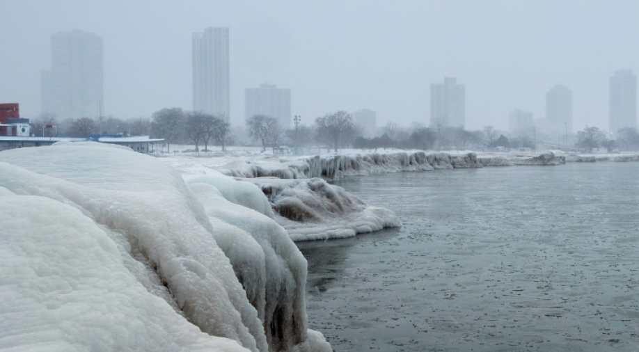 芝加哥迎来25年最低气温 酷寒程度堪比南极