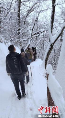 四名驴友深山赏景迷路 湖北十堰警民雪夜展开搜救