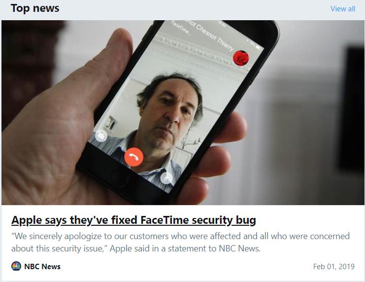 苹果为Facetime漏洞道歉,下周更新重启服务