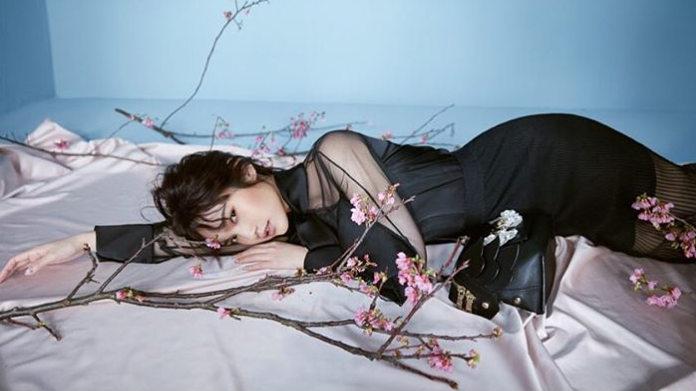 杨丞琳新写真似花仙子 穿薄纱裙雪白肌肤若隐若现