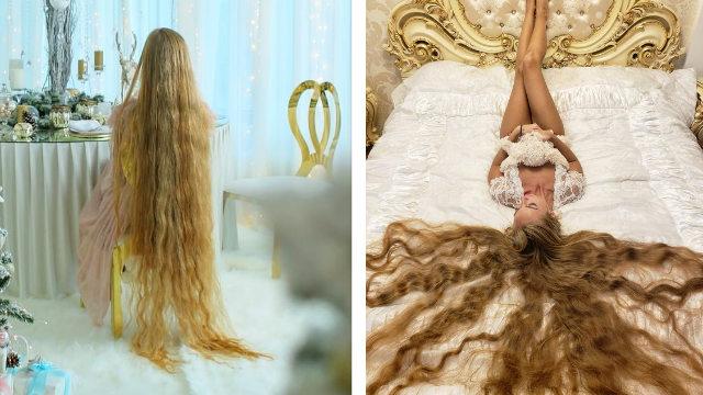 """现实版""""长发公主""""!乌克兰女子蓄发28年成网红"""