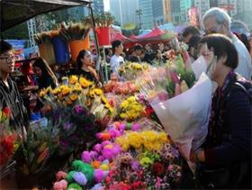 红红火火的香港年宵花市