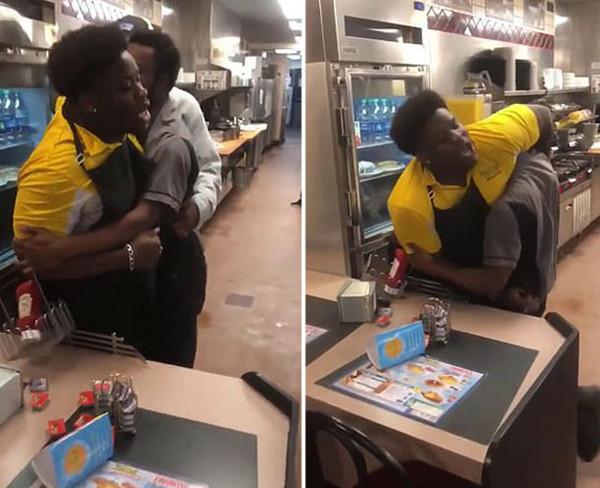 美华夫饼屋两员工争吵后动手导致餐厅沦为战场