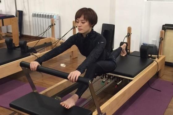 气质女星孙俪的瑜伽健身法