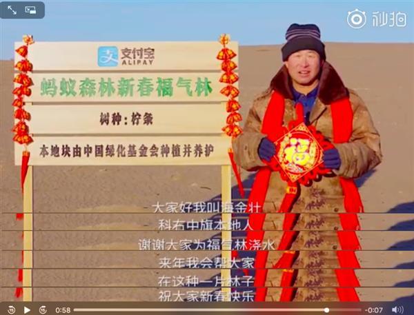 春节4.5亿人集五福 浇出了3.6万亩福气林!