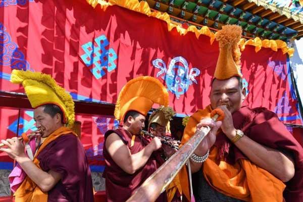 云南藏族民众昆明庆祝藏历新年