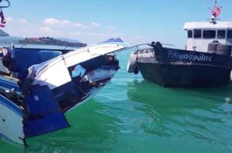 泰国普吉两船相撞 10名中国游客受伤