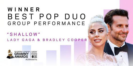Lady Gaga与库珀搭档 获格莱美最佳流行组合