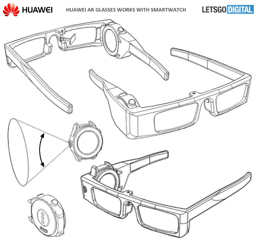 华为AR眼镜架专利曝光 需配合智能手表使用