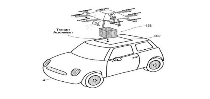 微软获新专利:无人机从天窗把快递送给旅途中的客户