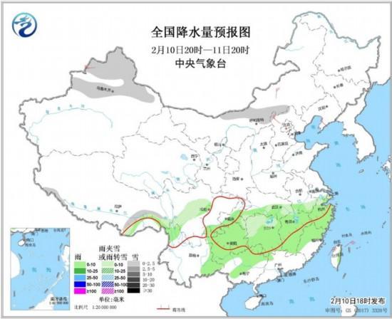 未来三天中东部雨雪天气减弱12日北京或有降雪