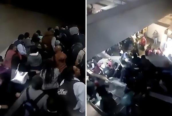 墨西哥地铁扶梯出故障 乘客慌忙逃跑造成踩踏