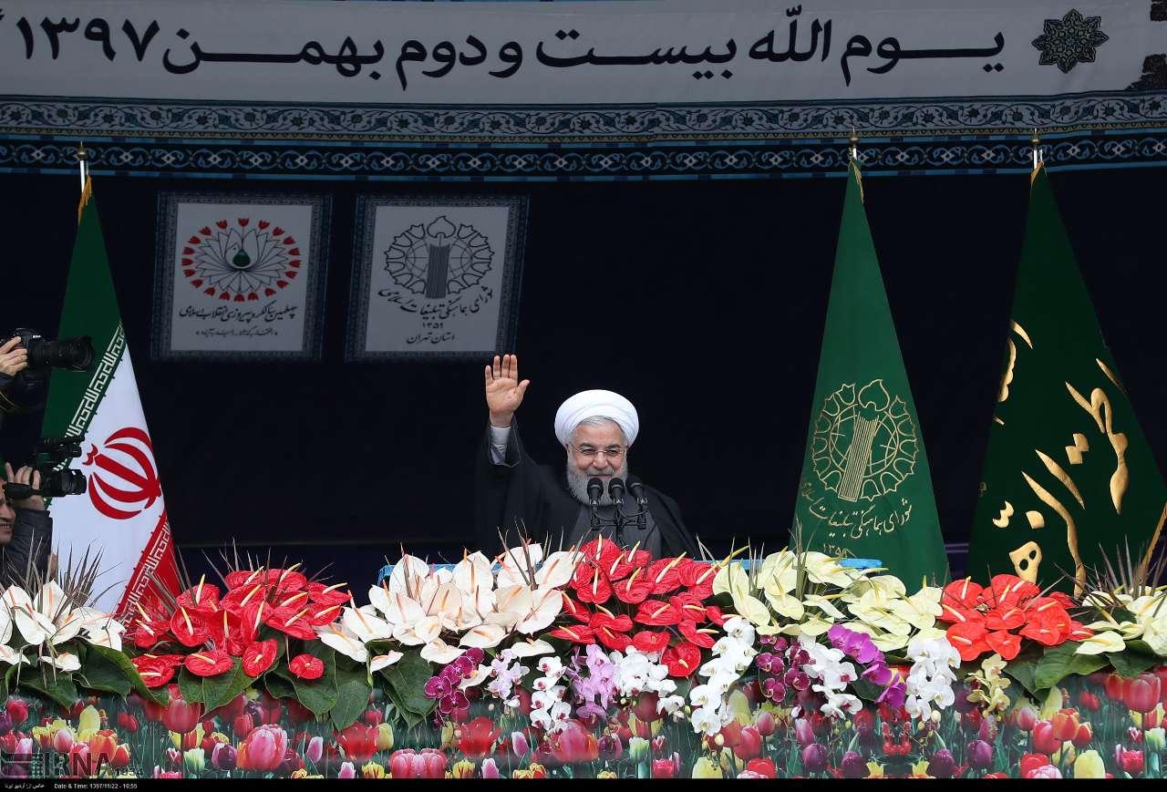 """伊朗纪念伊斯兰革命40周年,总统骂特朗普""""蠢货""""www.7huozhan.com"""