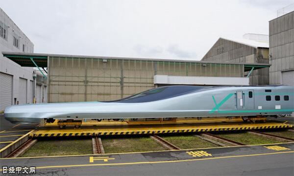 光车头就长达22米 日本公开下一代新干线试验车辆