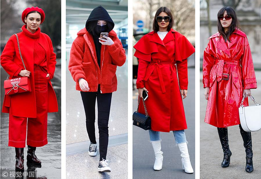 最乖巧讨喜色 穿红衣过新年