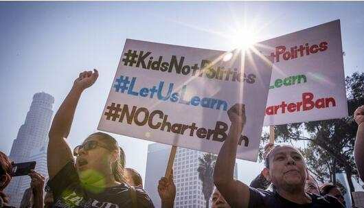洛杉矶联合学区冒险签下合同 数万教师停止罢工