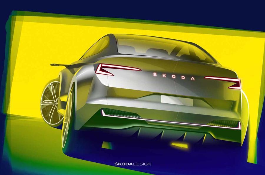斯柯达Vision iV电动概念车预告图发布 3月亮相