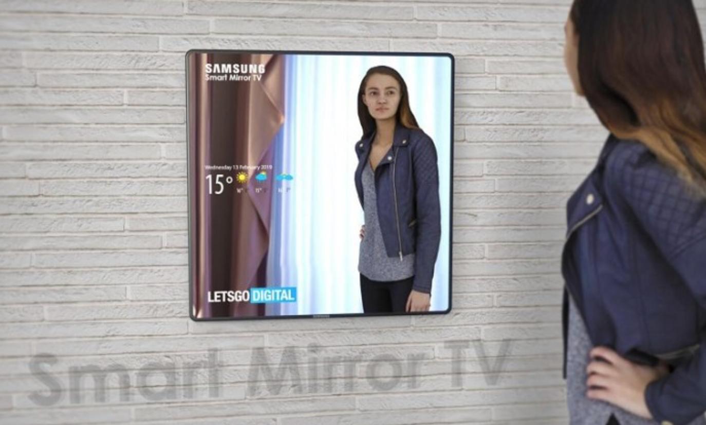 三星智能镜面电视设计曝光:一边看天气一边照镜子