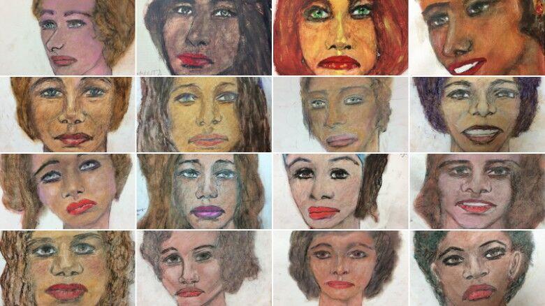 """为确认死者身份,FBI""""求""""连环杀手画出16名被害人肖像"""