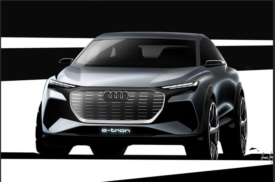 奥迪发布Q4 E-tron概念车预览图 日内瓦车展首秀