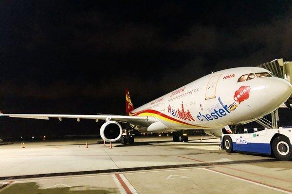 海南航空调配A330宽体客机执飞