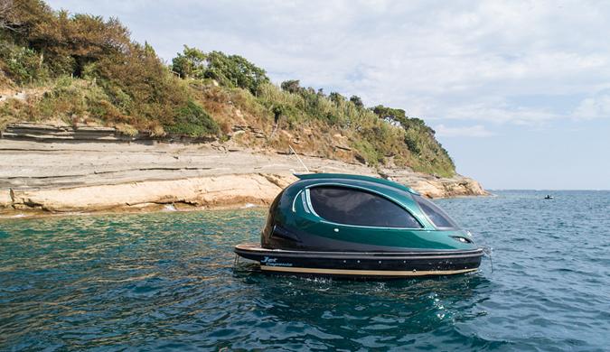 意大利公司发全新迷你胶囊游艇 内部宛如太空舱