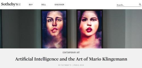 又一件AI艺术品将拍卖 估价约26万-34万人民币