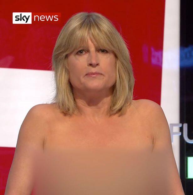 """英女嘉宾电视节目中突然""""脱光"""":脱欧让英国""""一丝不挂"""""""