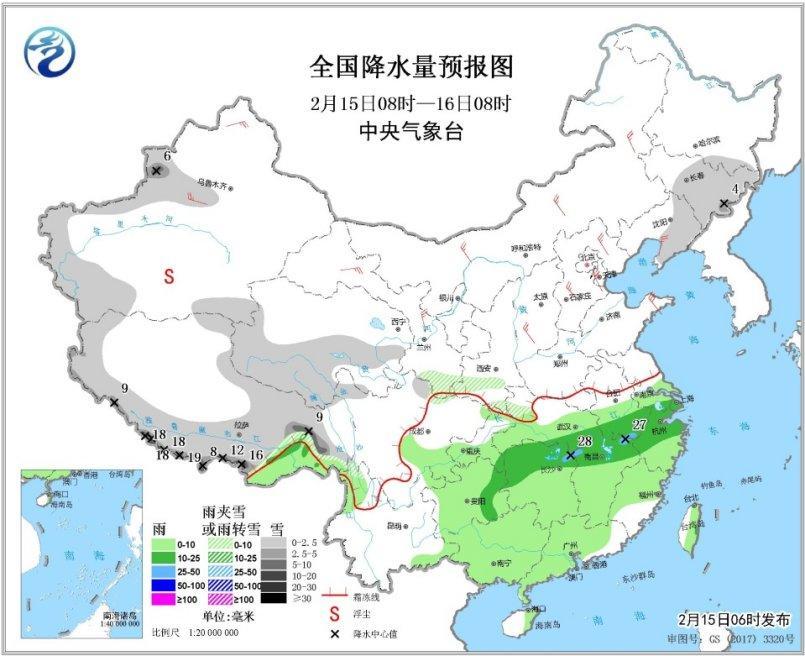 将来一周北方多阴雨气候 东南华北黄淮有降雪进程