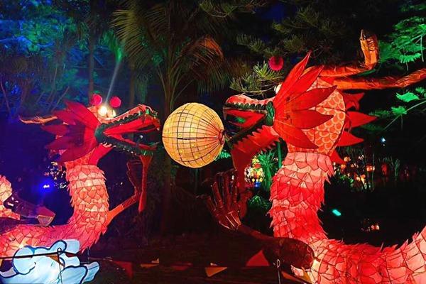 新西兰奥克兰举行灯会迎接元宵佳节