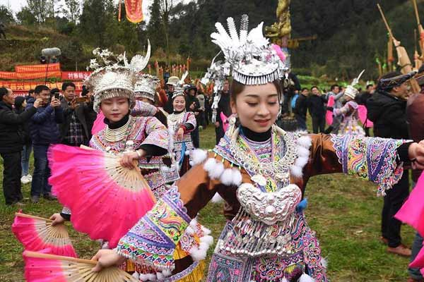 广西融水:欢乐坡会庆新春