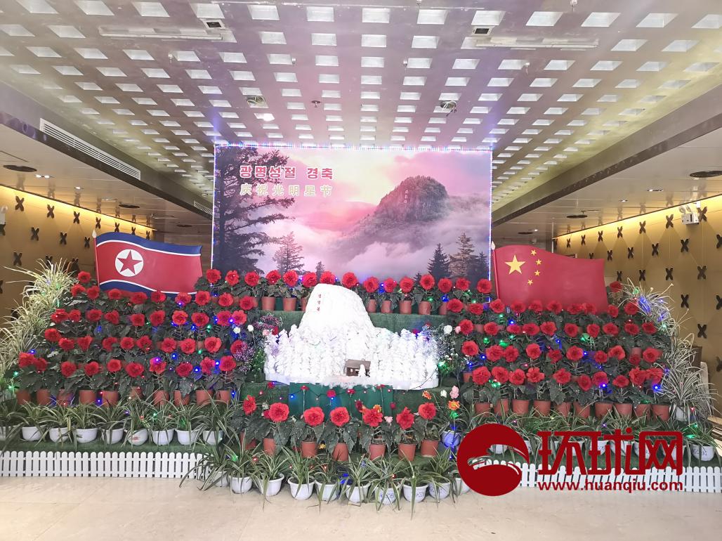 """朝鲜""""金正日花""""花展在沈阳举办"""