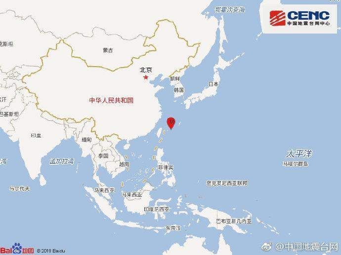 琉球群岛西南部发生5.0级地震 震源深度10千米