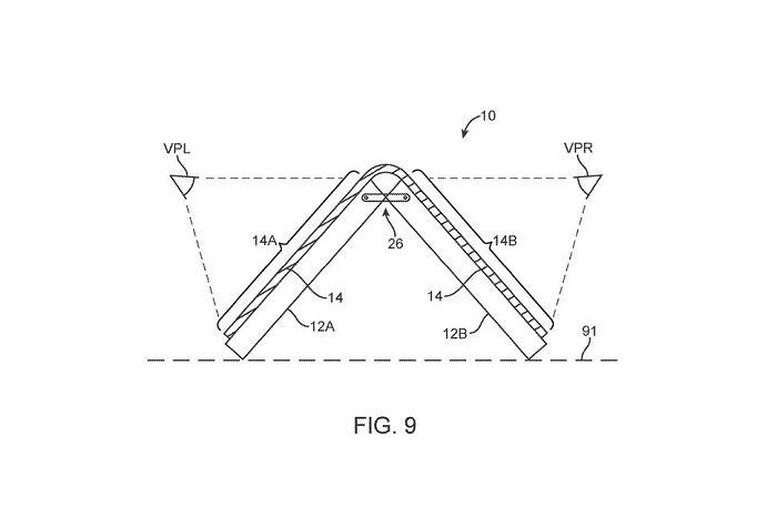 苹果在三星发布会前更新了折叠屏设计专利图纸